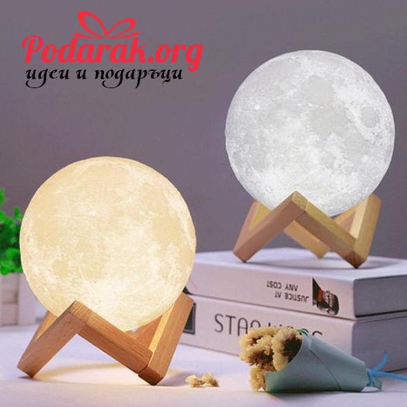 3D LED нощна лампа ЛУНА